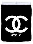 Chanel You Only Live Once Duvet Cover