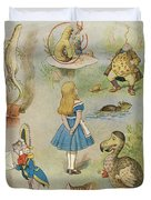 Characters From Alice In Wonderland  Duvet Cover