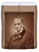 Charles Baudelaire, French Poet, Portrait Photograph  Duvet Cover