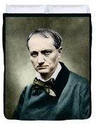 Charles Baudelaire, French Writer, Photo Duvet Cover