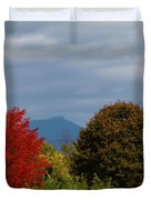 Charlotte Vermont View Of Camels Hump Duvet Cover