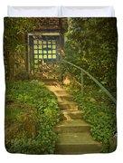 Chateau Montelena Garden Stairway Duvet Cover