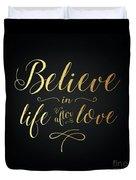 Cher - Believe Gold Foil Duvet Cover