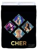 Cher - Blue Diamonds Duvet Cover