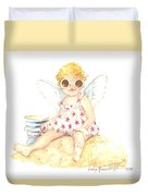 Cherub In The Sand Duvet Cover