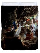 Chhungsi Cave From The Inside, Mustang Duvet Cover