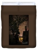 Chicago Alley At Night Duvet Cover