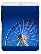 Chicago Centennial Ferris Wheel Duvet Cover