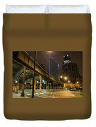 Chicago City Streets Duvet Cover