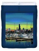 Chicago Marina Duvet Cover
