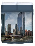 Chicago Skyline #1 Duvet Cover
