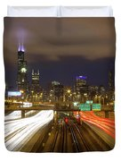 Chicago Skyline South Side View Duvet Cover