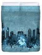 Chicago Skyline Vintage 4 Duvet Cover