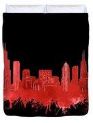 Chicago Skyline Watercolor 5 Duvet Cover