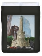 Chicago Water Tower 1a Duvet Cover