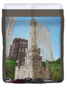 Chicago Water Tower 1c Duvet Cover
