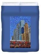 Chicago Wells Street Bridge Duvet Cover