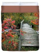 Chikanishing River Bridge Duvet Cover