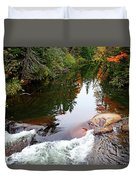 Chikanishing River In Autumn Duvet Cover