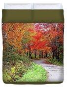 Chikanishing Road In Fall Duvet Cover