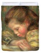Child Reading, 1890  Duvet Cover