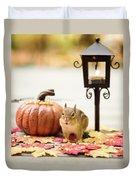 Chipmunk In The Autumn Duvet Cover