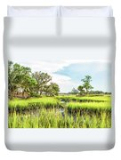 Chisolm Island - Marsh At Low Tide Duvet Cover