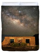 Chisos Mountain Homestead Under The Milky Way Duvet Cover