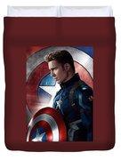 Chris Evans Captain America  Avengers Duvet Cover