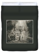 Christ Crucified Between The Two Thieves   The Three Crosses          Duvet Cover