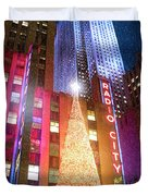 Christmas At Radio City Music Hall Duvet Cover
