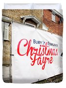 Christmas Fayre Sign Duvet Cover