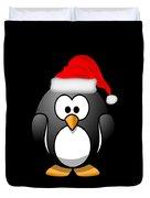 Christmas Santa Penguin Duvet Cover