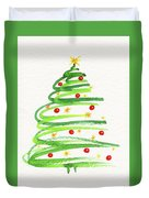 Christmas Tree With Decoration Duvet Cover