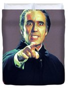 Christopher Lee As Dracula Duvet Cover