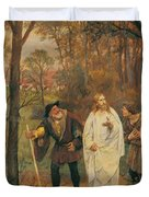 Christus Und Die J Nger Von Emmaus 1914 Duvet Cover