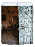 Church Door Tremouille Auvergne Francd Duvet Cover