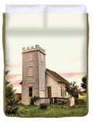 Church In Bowman North Dakota Duvet Cover