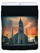 Church Of Days Past Duvet Cover