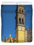 Church Of San Francisco In Puebla Duvet Cover