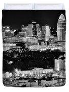 Cincinnati Covington And Ohio River Duvet Cover