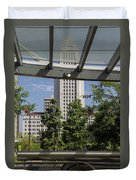 Civic Center Metro Station Los Angeles Duvet Cover
