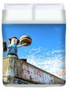 Clam Bar Theme Park Coney Island  Duvet Cover