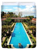 Classic Awesome J Paul Getty Architectural View Villa  Duvet Cover