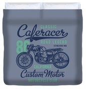 Classic Caferacer Road Legend Duvet Cover
