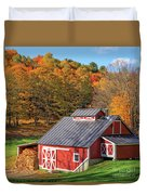 Classic Vermont Maple Sugar Shack Square Duvet Cover