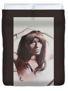 Claudia Lennear.brown Sugar.lady Grinning Soul Duvet Cover