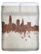 Cleveland Ohio Rust Skyline Duvet Cover