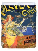 Clever Cycles Duvet Cover