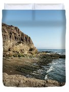 Cliff In The Ocean Duvet Cover